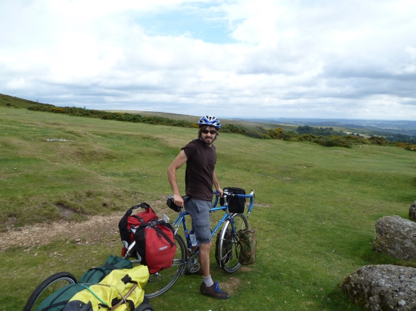 Just before riding the steep, fast descent to Haytor