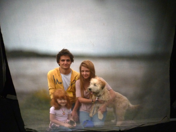 Lewis Emma Charlotte and Lucy the dog